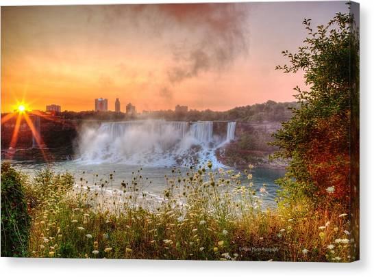 Niagara Falls Canada Sunrise Canvas Print