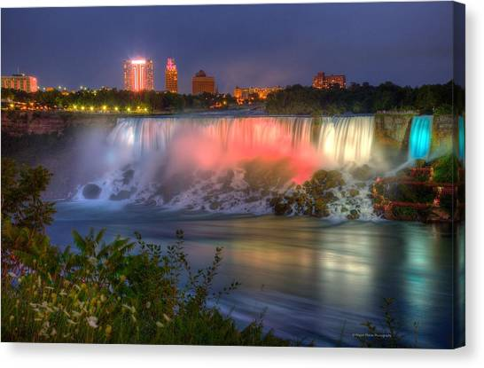 Niagara Falls Canada Sunset  Canvas Print