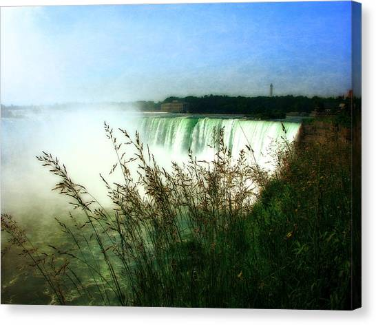 Niagara Falls With Grasses Canvas Print