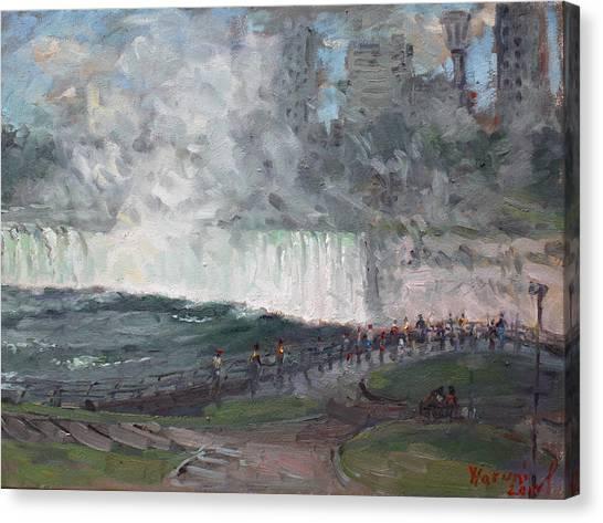 Horseshoe Falls Canvas Print - Niagara Falls by Ylli Haruni