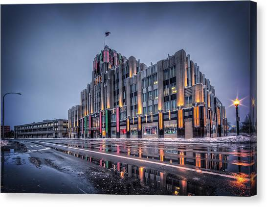 Syracuse University Canvas Print - Niagara Mohawk Syracuse by Everet Regal