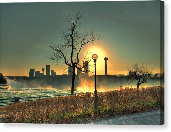 Niagara Sunset Canvas Print