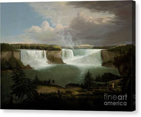 Niagra Falls By Alvan Fisher Canvas Print