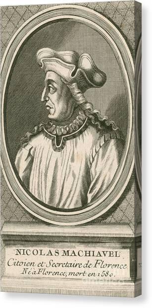 Political Science Canvas Print - Niccolo Machiavelli, Italian Writer by Photo Researchers