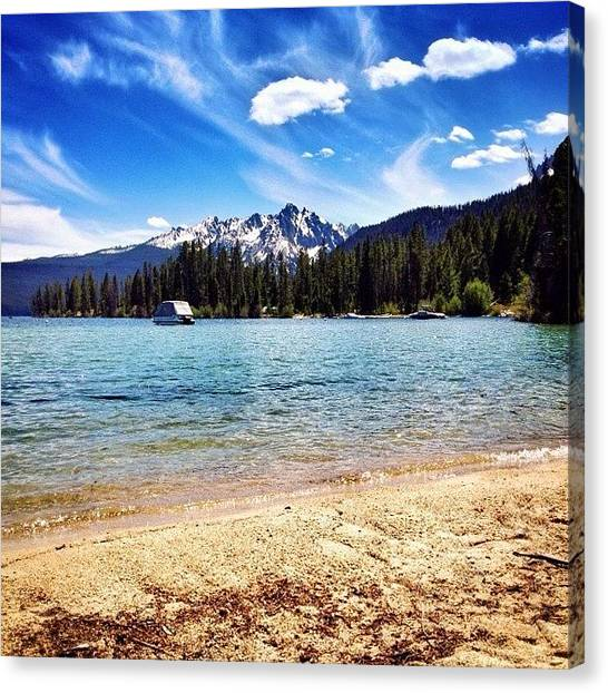 Ponds Canvas Print - Nice Day At The #pond. #redfish #idaho by Cody Haskell