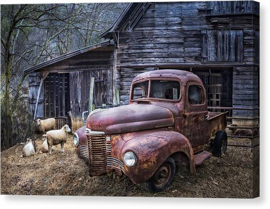 Rusty Truck Canvas Print - Nice Ride by Debra and Dave Vanderlaan