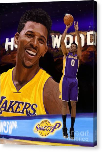 Three Pointer Canvas Print - Nick Young  by Jeremy Nash