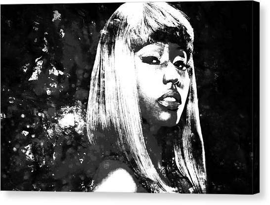 Wu Tang Canvas Print - Nicki Minaj 4x by Brian Reaves