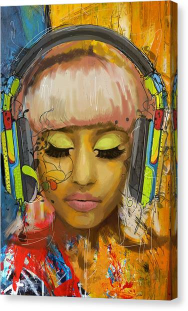 Nicki Minaj Canvas Print by Corporate Art Task Force