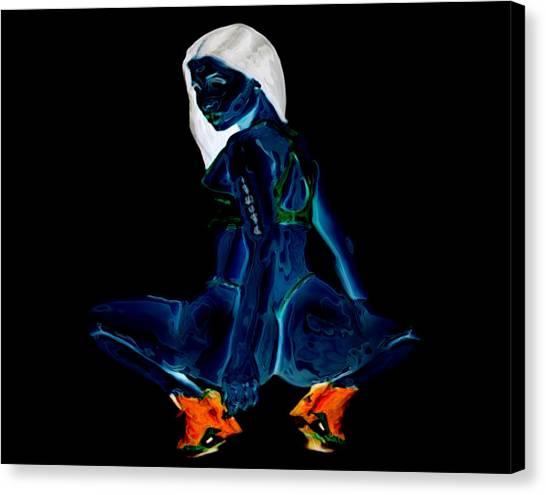 Wu Tang Canvas Print - Nicki Minaj Glass Statue by Brian Reaves