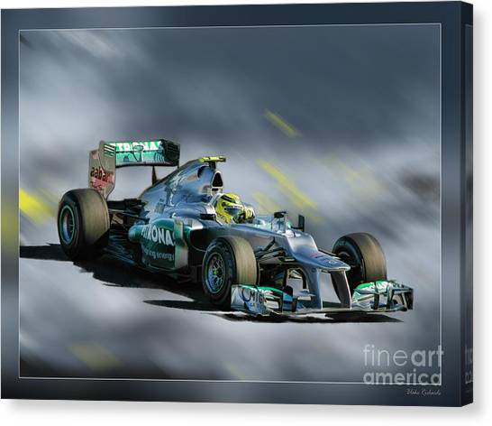 Nico Rosberg Mercedes Benz Canvas Print