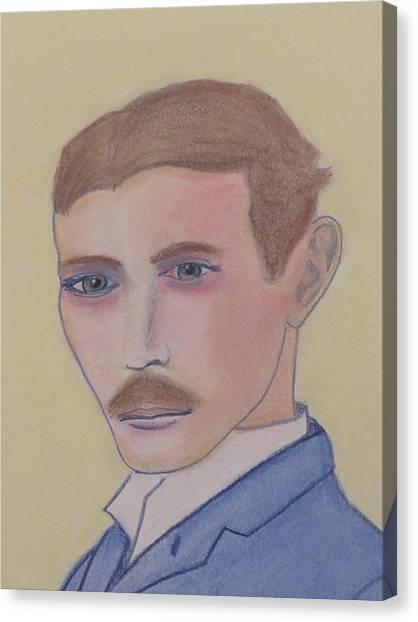 Nikola Tesla Mad Scientist Canvas Print