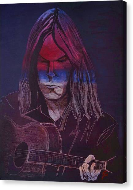 Neil Young   Patriot Canvas Print