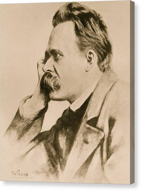Signature Canvas Print - Nietzsche by Anonymous