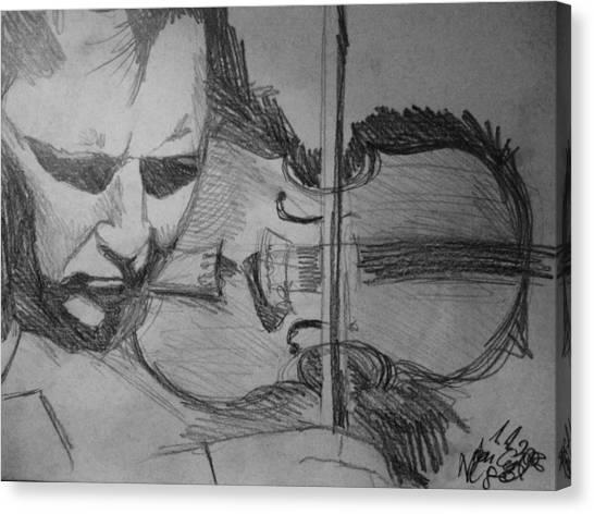 Nigel Kennedy Canvas Print by Agata Suchocka-Wachowska