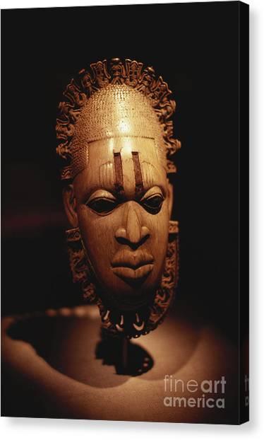 Nigeria Canvas Print - Nigerian Ivory Mask by Bedrich Grunzweig