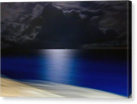 Night And Water Canvas Print