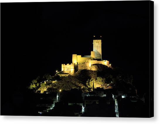 Night At The Castle Canvas Print