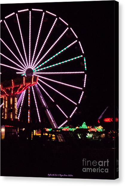 Night At The Fair Canvas Print