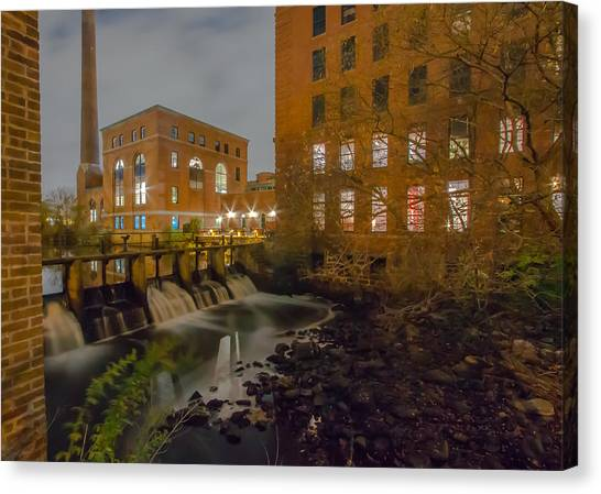 Night At The River Canvas Print