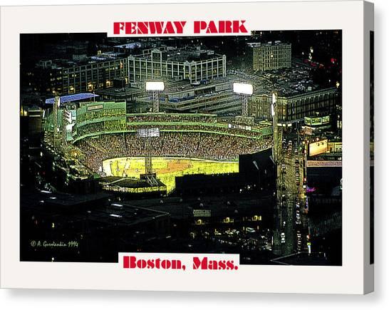 Night Baseball Fenway Park Boston Massachusetts Canvas Print by A Gurmankin