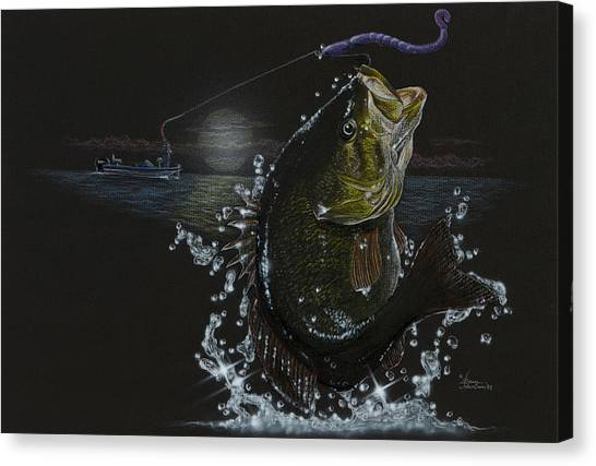 Night Bass Canvas Print