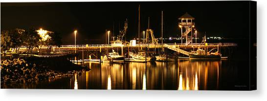 Night Boats Canvas Print by Melisa Meyers