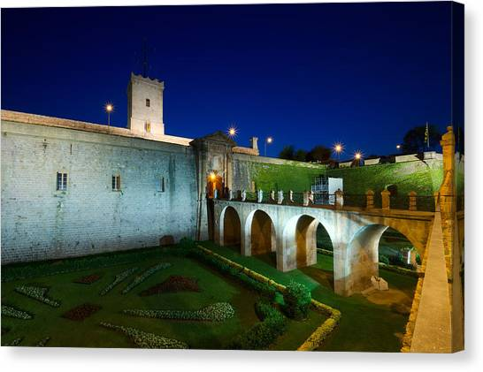 Night Castle Canvas Print by Ioan Panaite