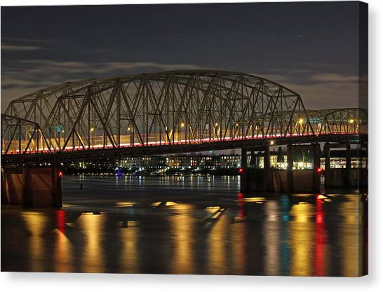 Night Crossing At I-5 Canvas Print