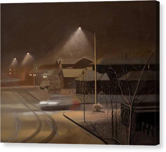 Night Drive Canvas Print