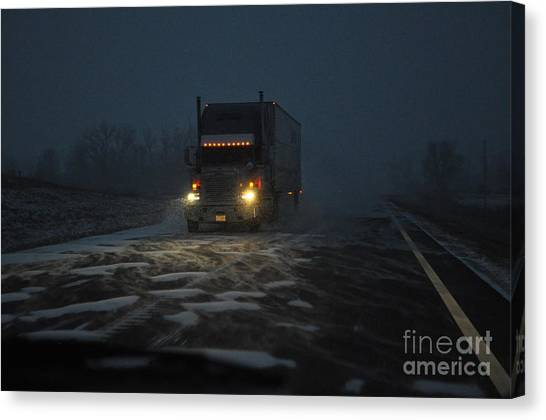 Night Driver Canvas Print