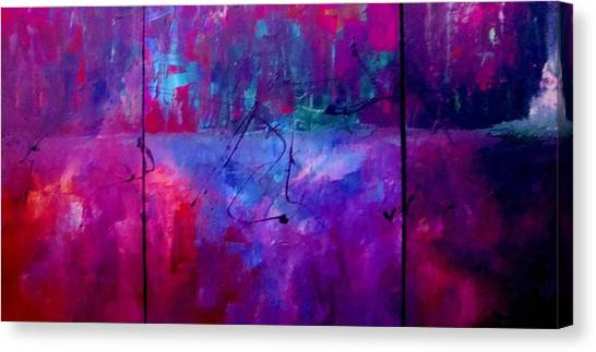 Night Falls Upon Canvas Print