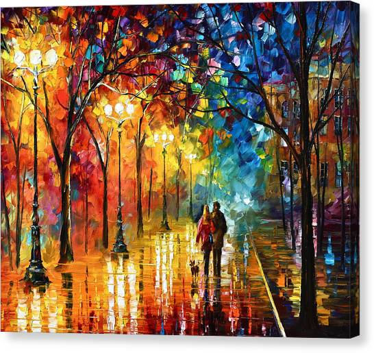 Male Canvas Print - Night Fantasy by Leonid Afremov
