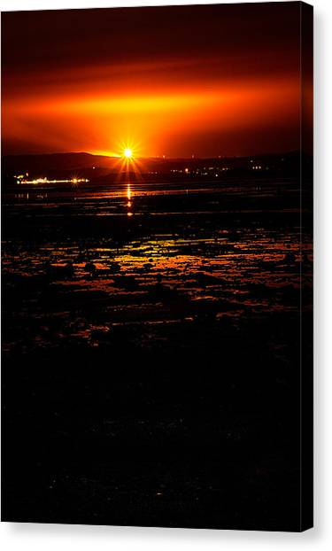 Night Flare. Canvas Print