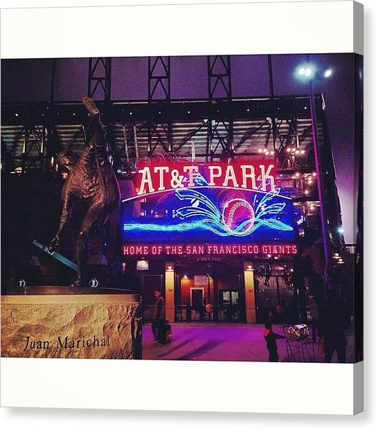 Rattlesnakes Canvas Print - Night Game At At&t Park. #giants by Betsy B