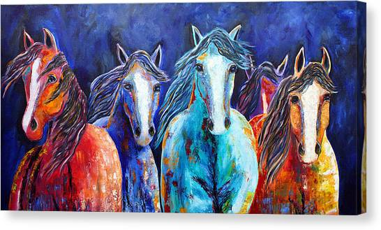 Night Horse Rendezvous Canvas Print