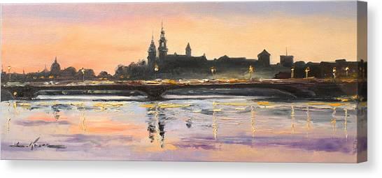 Night In Krakow Canvas Print