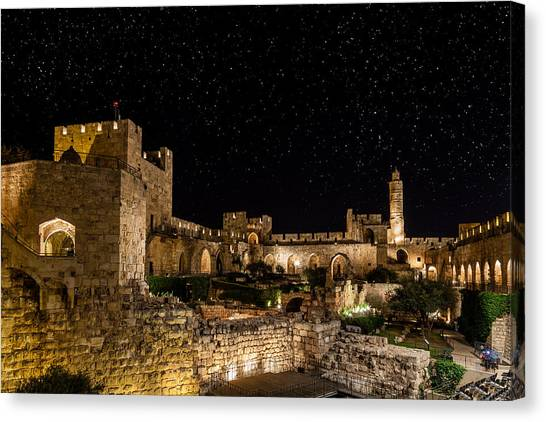 Fortification Canvas Print - Night In The Old City by Alexey Stiop