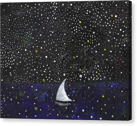 Starry Night Canvas Print - Night Journey by Caroline Blum