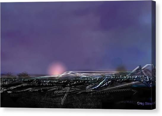 Night Landing Approch Canvas Print by Greg Stew
