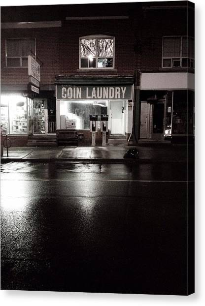 Trout Canvas Print - Night Laundry by Kreddible Trout
