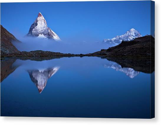 Matterhorn Canvas Print - Night Mirror by Szabo Zsolt Andras