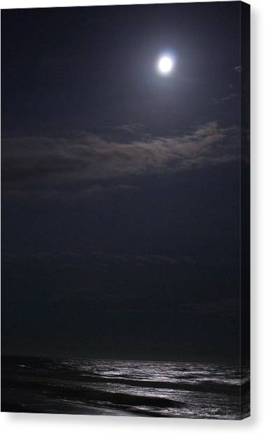 Night Moon Sun 161 Canvas Print