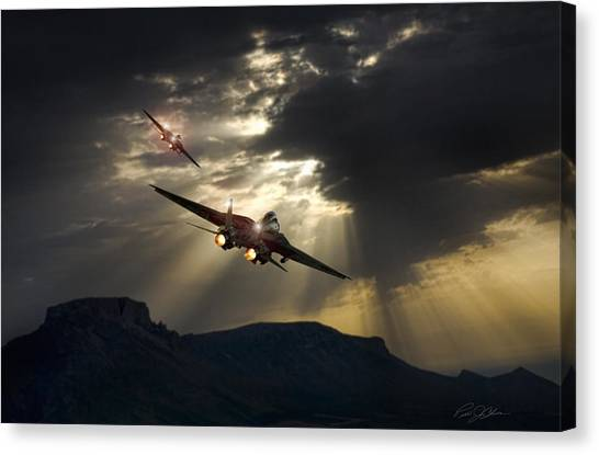 Diamondback Canvas Print - Night Moves by Peter Chilelli