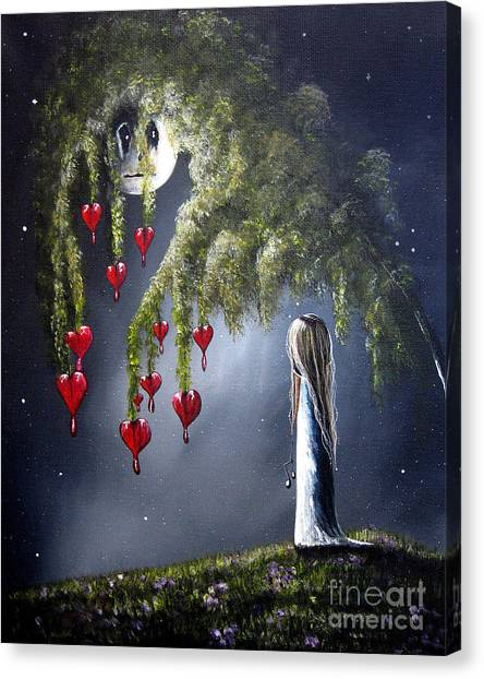 Night Of The Bleeding Hearts By Shawna Erback Canvas Print by Erback Art