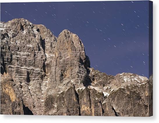Night On Mountain Canvas Print by Ioan Panaite