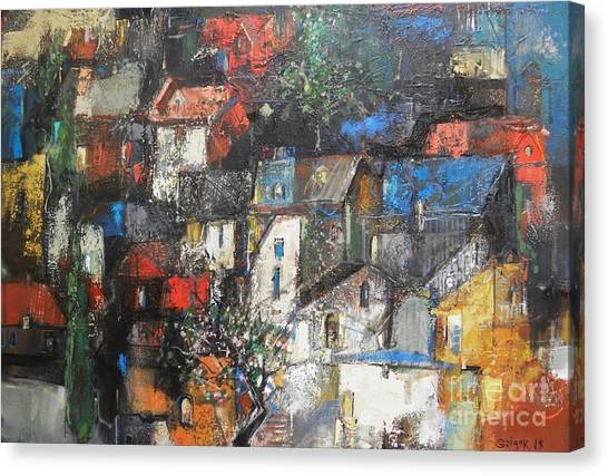 Canvas Print - Night Over The Town by Grigor Malinov