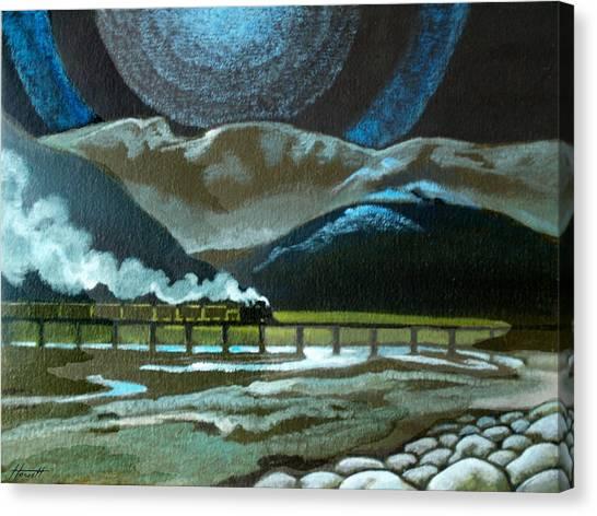 Night Passage - Ww480 Steam Canvas Print by Patricia Howitt