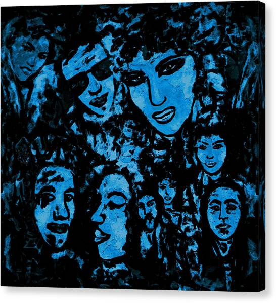 Search Canvas Print - Night People by Natalie Holland