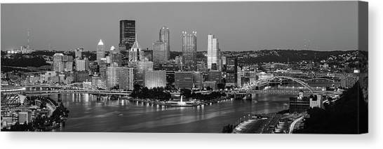 Canvas Print - Night, Pittsburgh, Pennsylvania by Panoramic Images